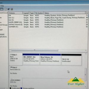 when checking the disk management it will the removable USB as no media