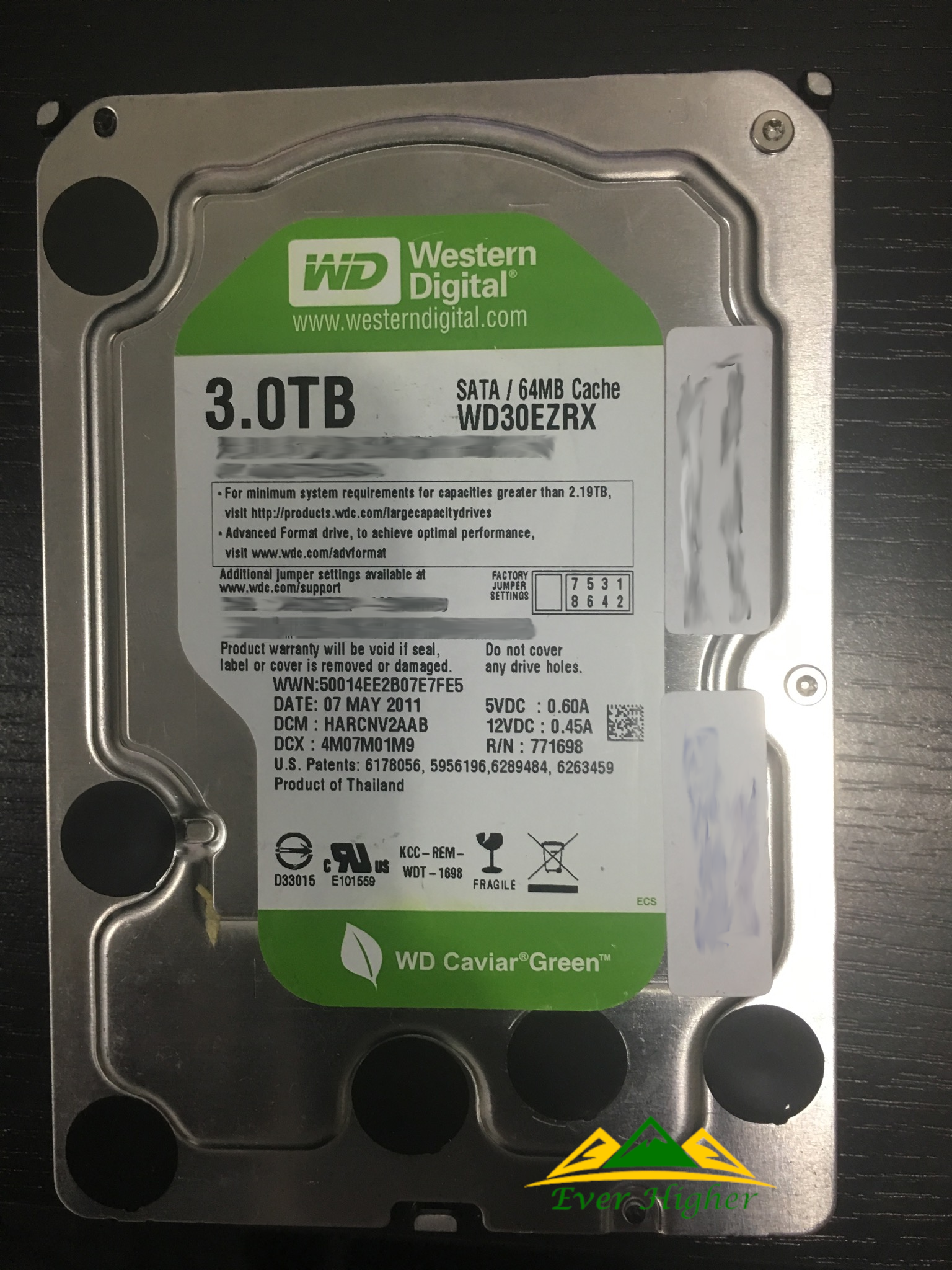 Western Digital Harddisk 3TB Data Recovery Service