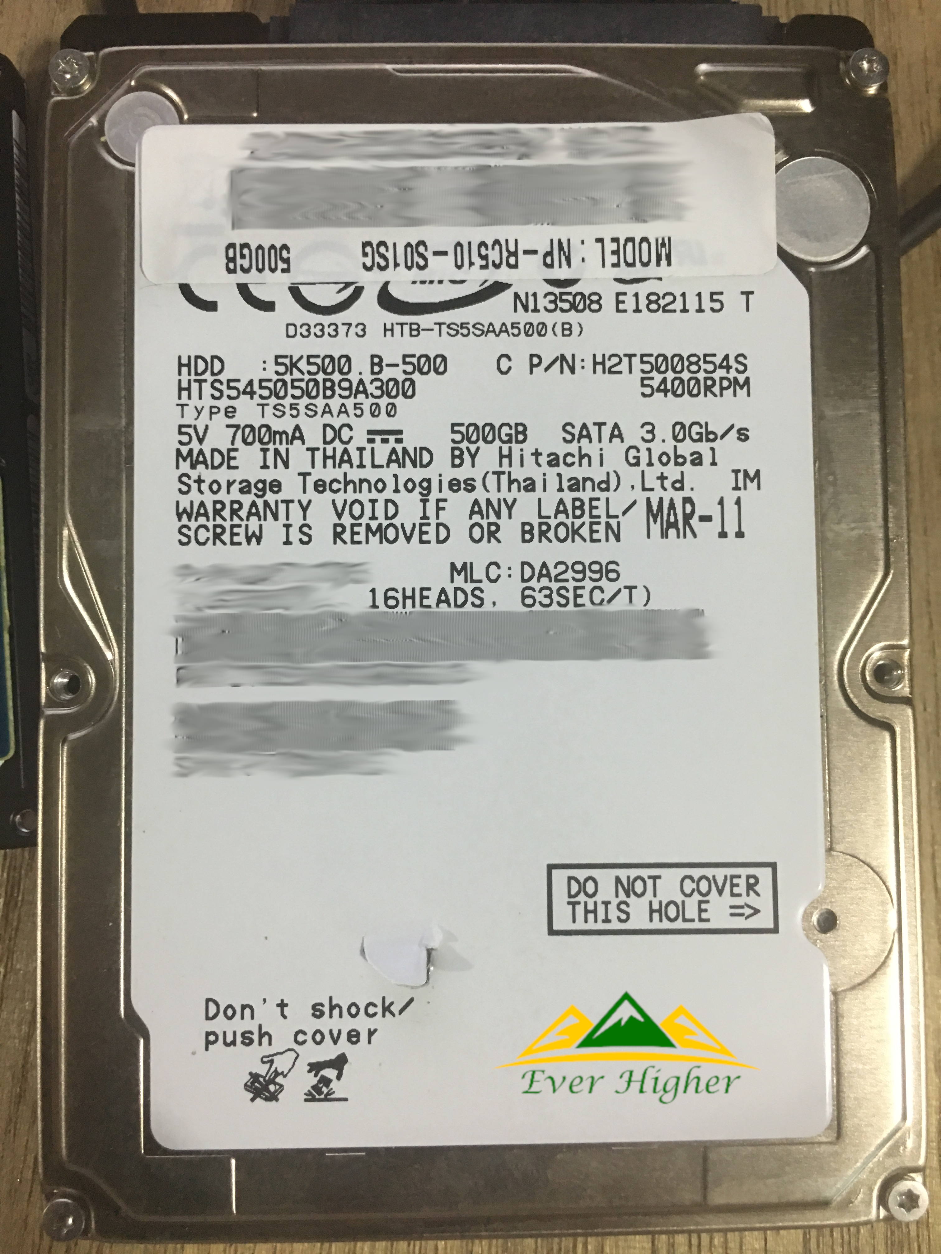Hitachi 2.5 Hard Disk 2TB Data Recovery Service_Ever Higher
