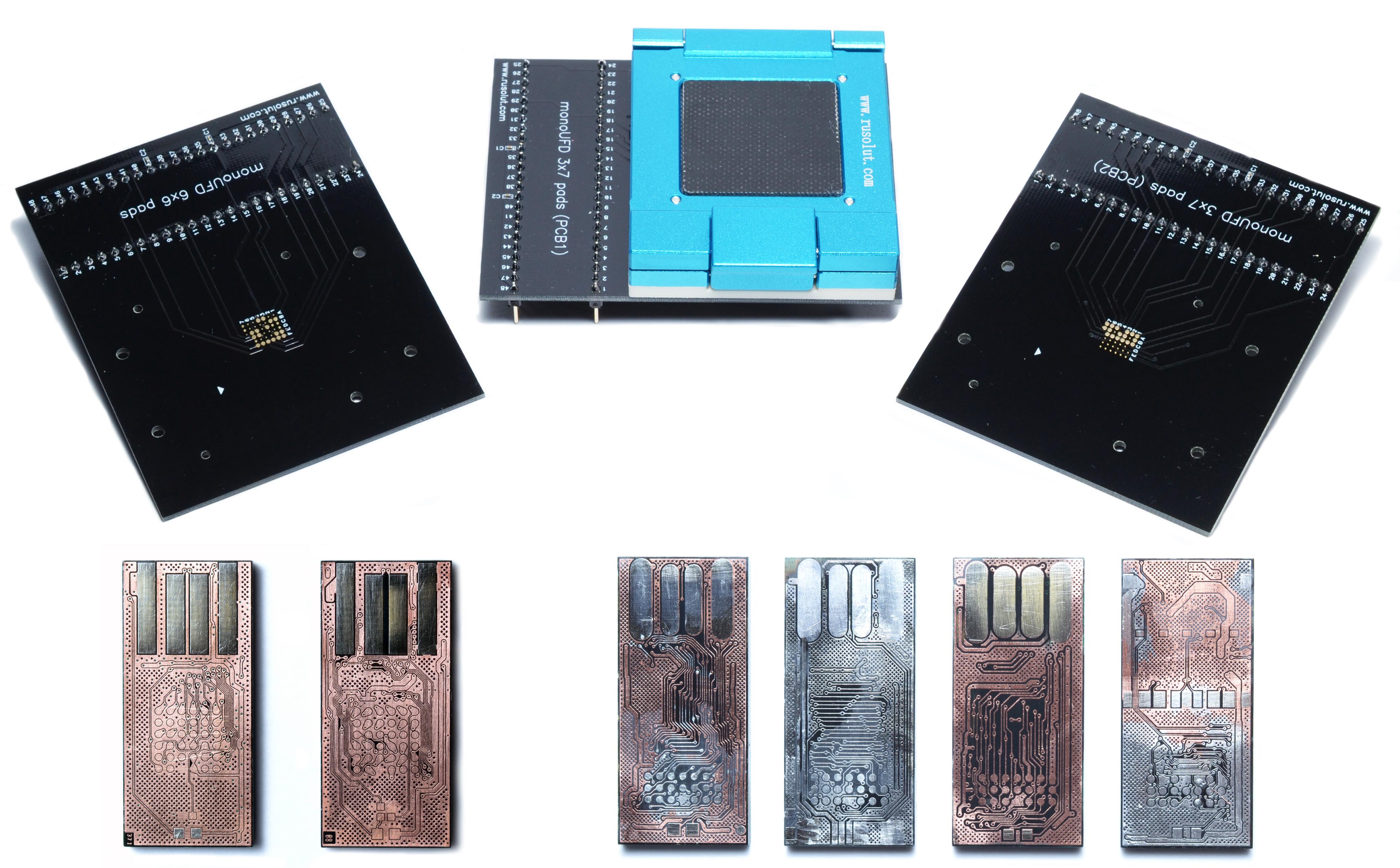 monoUFD 3×7 & 6×6 pads